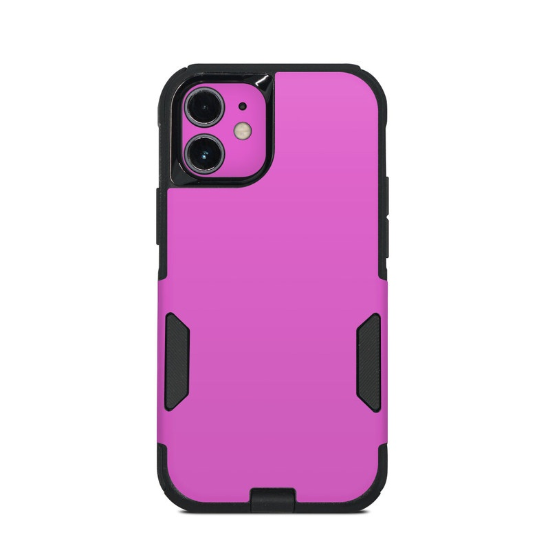OtterBox Commuter iPhone 12 mini Case Skin design of Violet, Pink, Purple, Red, Lilac, Magenta, Blue, Lavender, Text, Sky with pink colors
