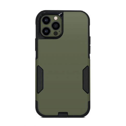 Solid State Olive Drab OtterBox Commuter iPhone 12 Pro Case Skin