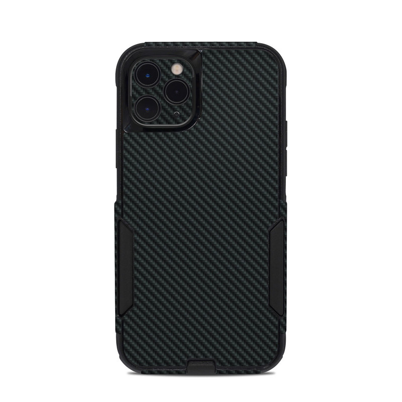 OtterBox Commuter iPhone 11 Pro Case Skin design of Green, Black, Blue, Pattern, Turquoise, Carbon, Textile, Metal, Mesh, Woven fabric with black colors