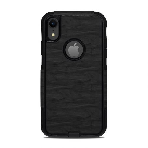 Black Woodgrain OtterBox Commuter iPhone XR Case Skin