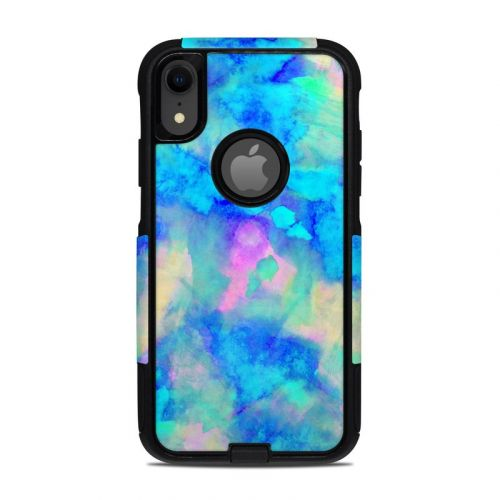 Electrify Ice Blue OtterBox Commuter iPhone XR Case Skin