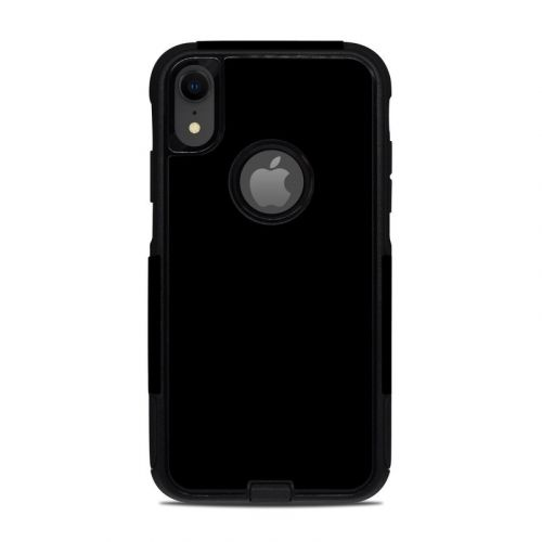 Solid State Black OtterBox Commuter iPhone XR Case Skin