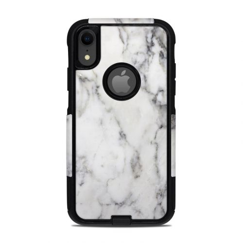 White Marble OtterBox Commuter iPhone XR Case Skin