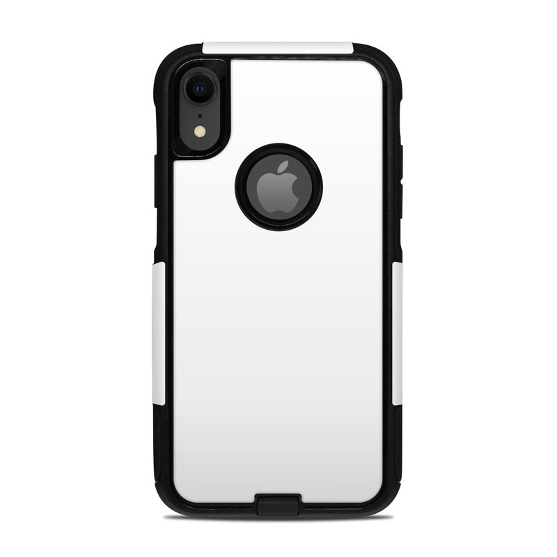 OtterBox Commuter iPhone XR Case Skin design of White, Black, Line with white colors