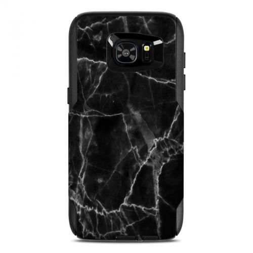 Black Marble OtterBox Commuter Galaxy S7 Edge Case Skin
