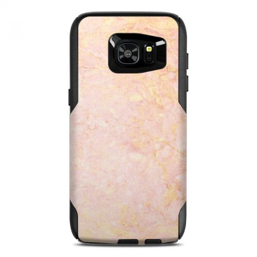 Rose Gold Marble OtterBox Commuter Galaxy S7 Edge Skin
