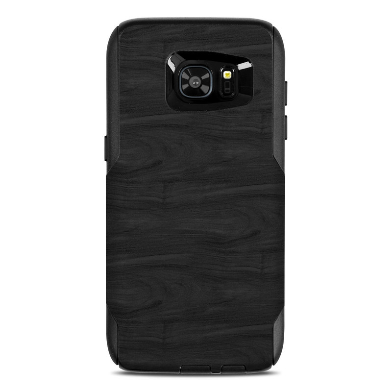 OtterBox Commuter Galaxy S7 Edge Case Skin design of Black, Brown, Wood, Grey, Flooring, Floor, Laminate flooring, Wood flooring with black colors