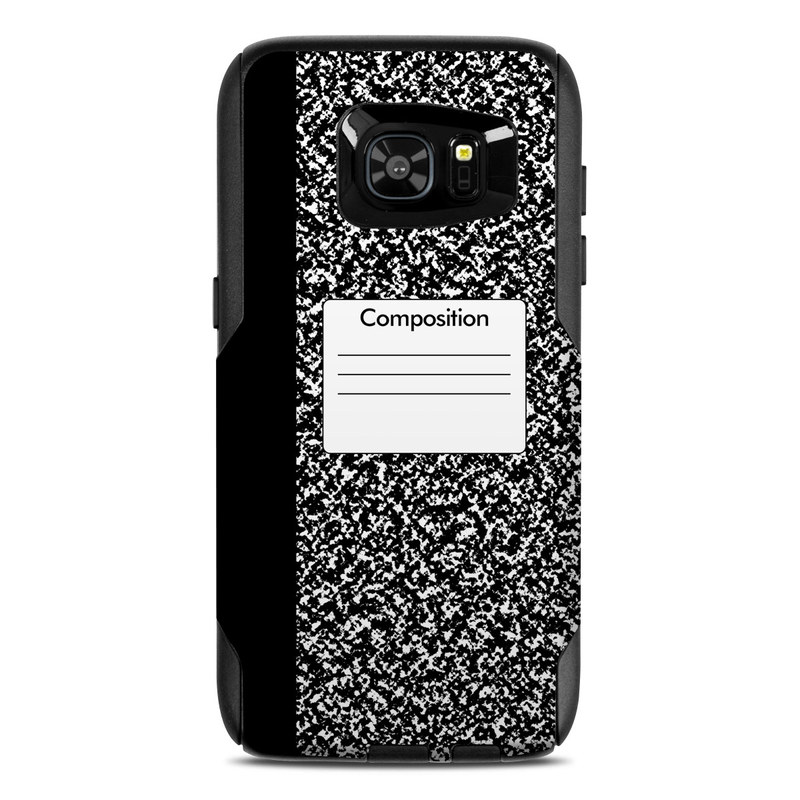 OtterBox Commuter Galaxy S7 Edge Case Skin design of Text, Font, Line, Pattern, Black-and-white, Illustration with black, gray, white colors