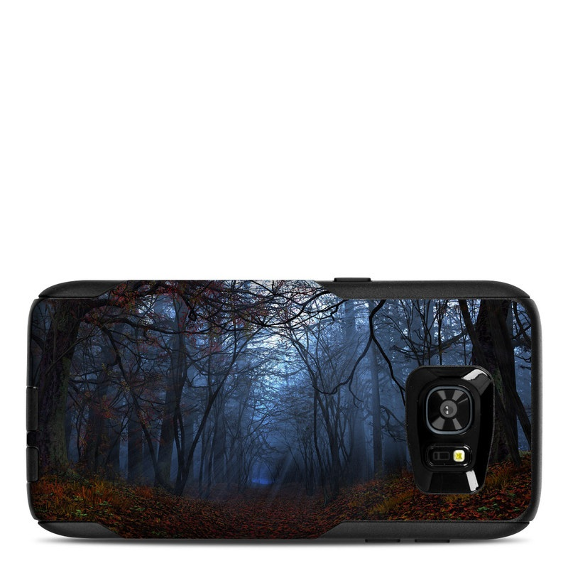 OtterBox Commuter Galaxy S7 Edge Case Skin design of Natural landscape, Nature, Tree, Forest, Woodland, Natural environment, Atmospheric phenomenon, Sky, Fog, Branch with black, blue, gray colors