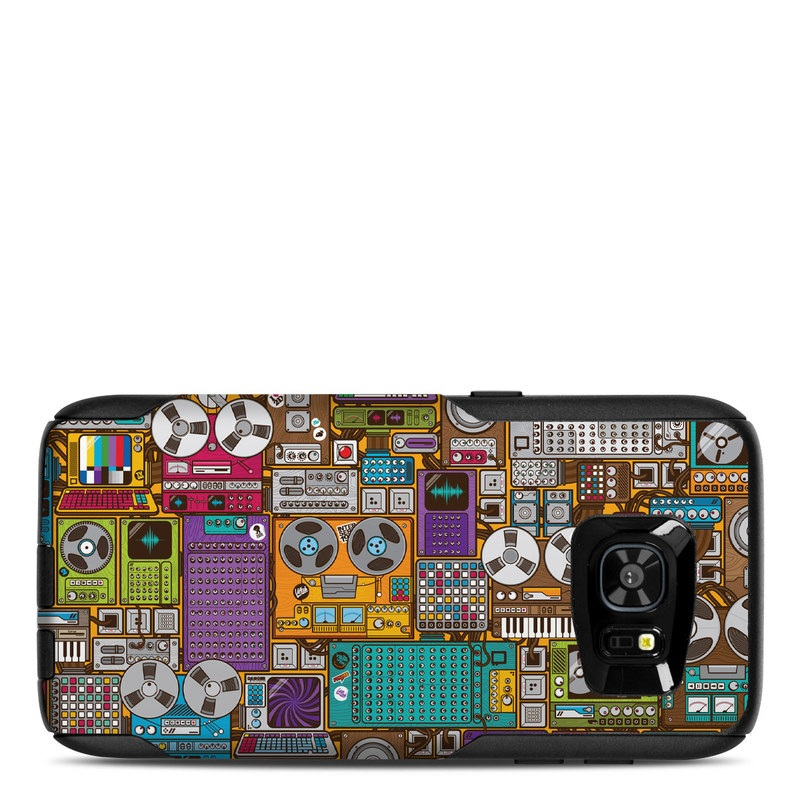 OtterBox Commuter Galaxy S7 Edge Case Skin design of Games, Pc game, Design, Pattern, Screenshot, Art with gray, black, red, green, blue, purple colors