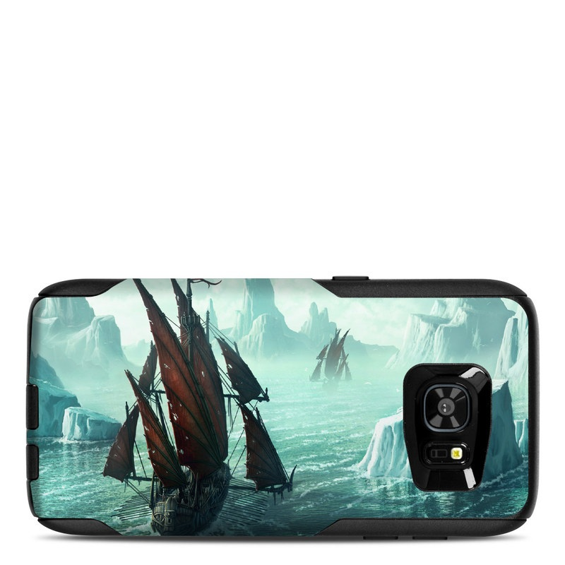 OtterBox Commuter Galaxy S7 Edge Case Skin design of Cg artwork, Vehicle, Ghost ship, Manila galleon, Fluyt, Adventure game, First-rate, Sailing ship, Mythology, Strategy video game with gray, black, blue, green, white colors