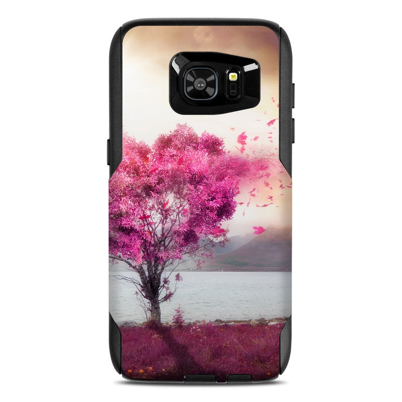 OtterBox Commuter Galaxy S7 Edge Case Skin design of Sky, Nature, Natural landscape, Pink, Tree, Spring, Purple, Landscape, Cloud, Magenta with pink, yellow, blue, black, gray colors