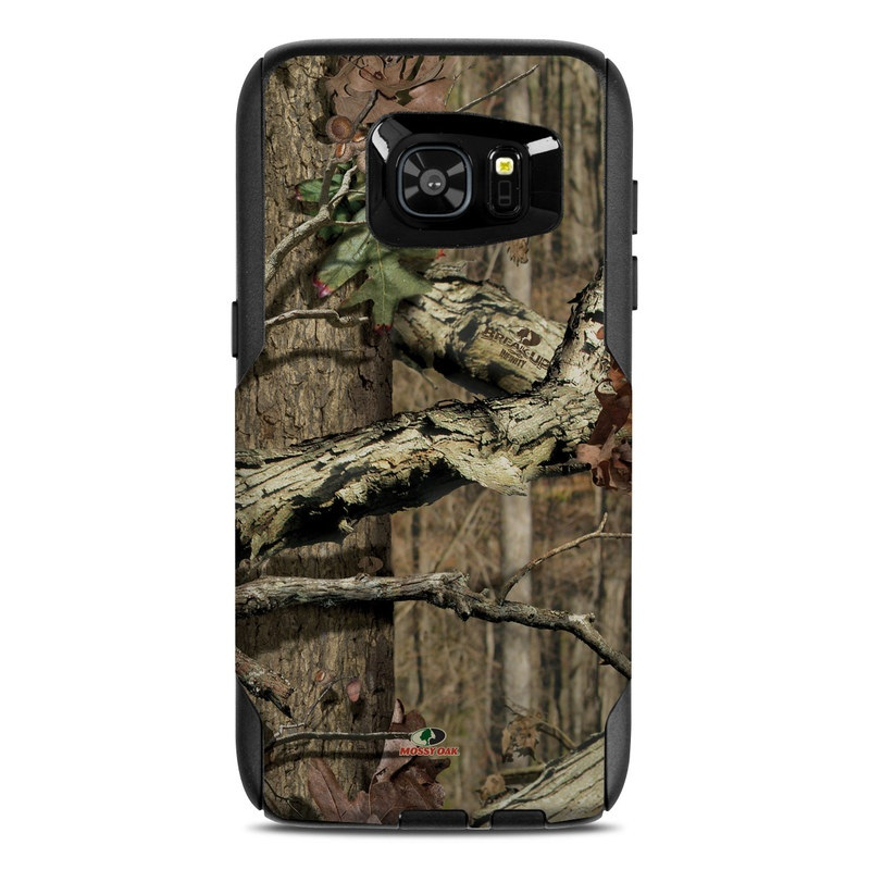 OtterBox Commuter Galaxy S7 Edge Case Skin design of Tree, Military camouflage, Camouflage, Plant, Woody plant, Trunk, Branch, Design, Adaptation, Pattern with black, red, green, gray colors
