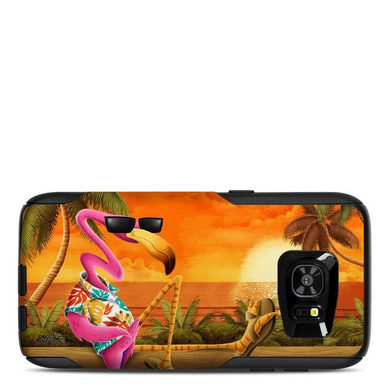 Sunset Flamingo OtterBox Commuter Galaxy S7 Edge Skin