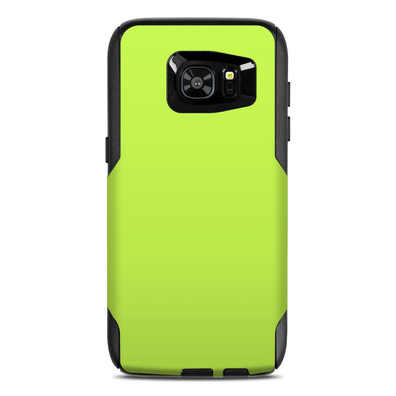 OtterBox Commuter Galaxy S7 Edge Case Skin design of Green, Yellow, Text, Leaf, Font, Grass with green colors