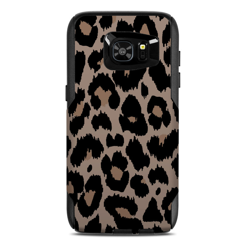 OtterBox Commuter Galaxy S7 Edge Case Skin design of Pattern, Brown, Fur, Design, Textile, Monochrome, Fawn with black, gray, red, green colors
