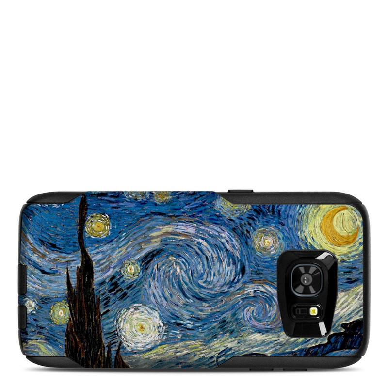 OtterBox Commuter Galaxy S7 Edge Case Skin design of Painting, Purple, Art, Tree, Illustration, Organism, Watercolor paint, Space, Modern art, Plant with gray, black, blue, green colors
