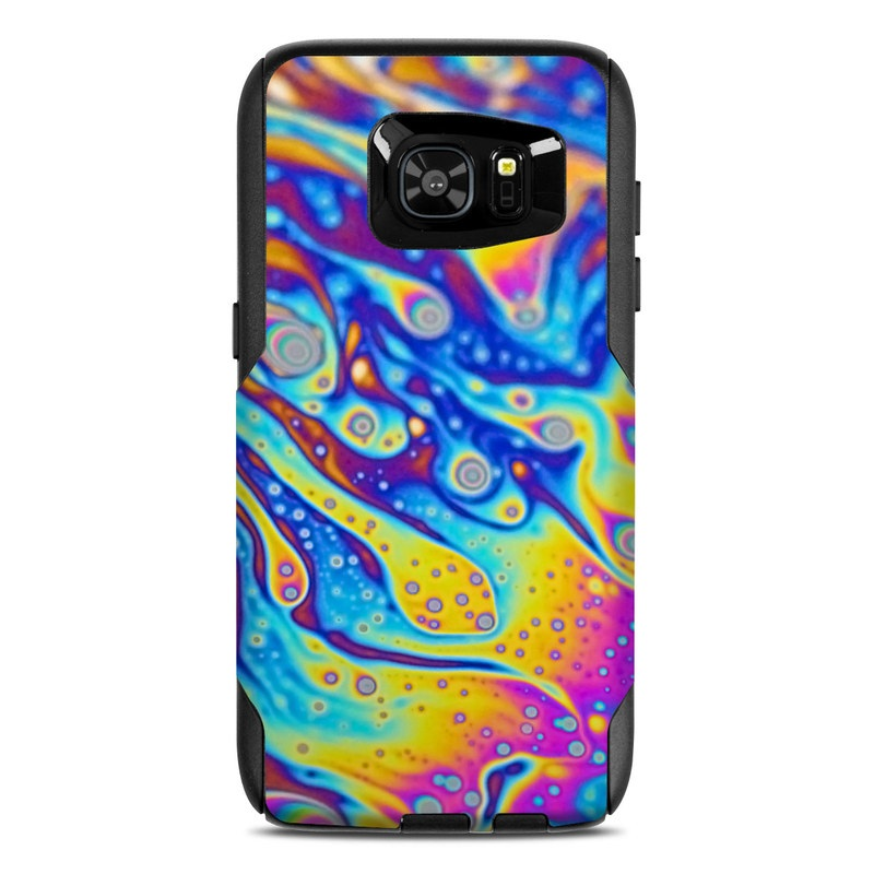OtterBox Commuter Galaxy S7 Edge Case Skin design of Psychedelic art, Blue, Pattern, Art, Visual arts, Water, Organism, Colorfulness, Design, Textile with gray, blue, orange, purple, green colors
