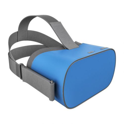 Solid State Blue Oculus Go Skin