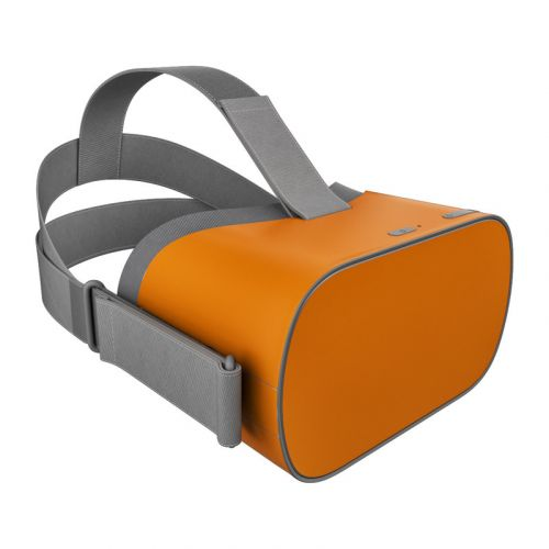 Solid State Orange Oculus Go Skin