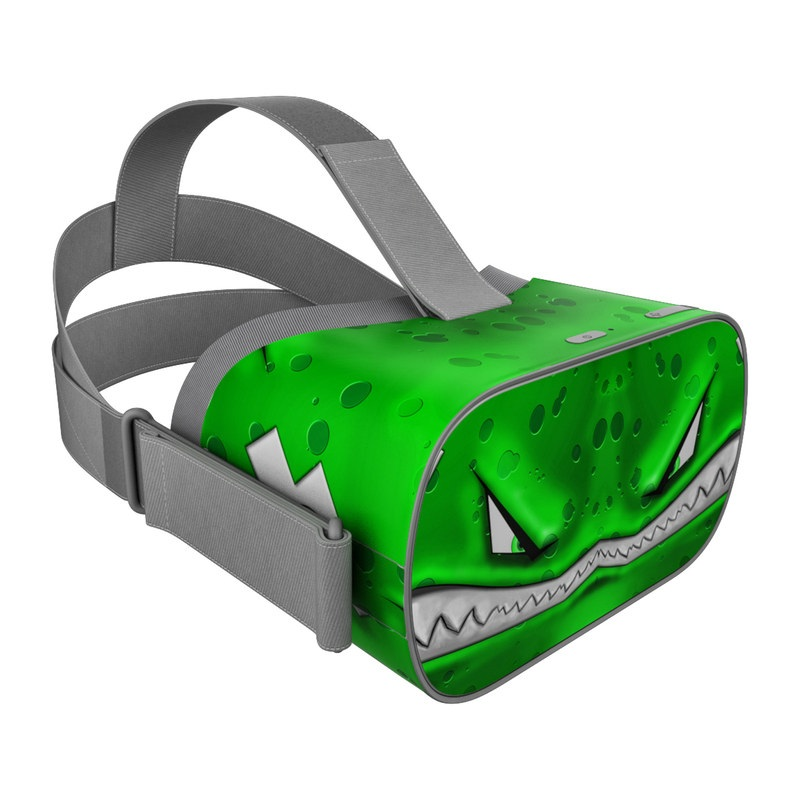 Oculus Go Skin design of Green, Font, Animation, Logo, Graphics, Games with green, white colors