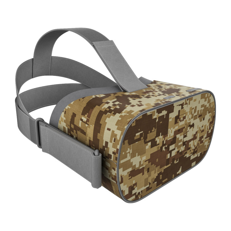 Oculus Go Skin design of Military camouflage, Brown, Pattern, Camouflage, Wall, Beige, Design, Textile, Uniform, Flooring with brown colors