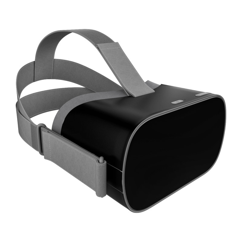 Oculus Go Skin design of Black, Darkness, White, Sky, Light, Red, Text, Brown, Font, Atmosphere with black colors