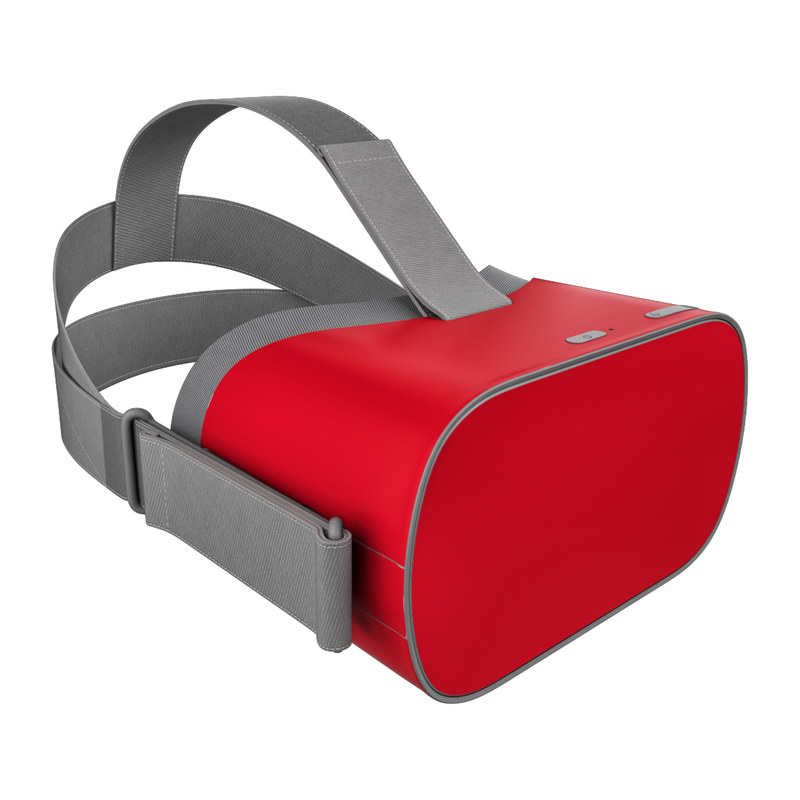 Oculus Go Skin design of Red, Pink, Maroon, Purple, Orange, Violet, Magenta, Material property, Font, Peach with red colors