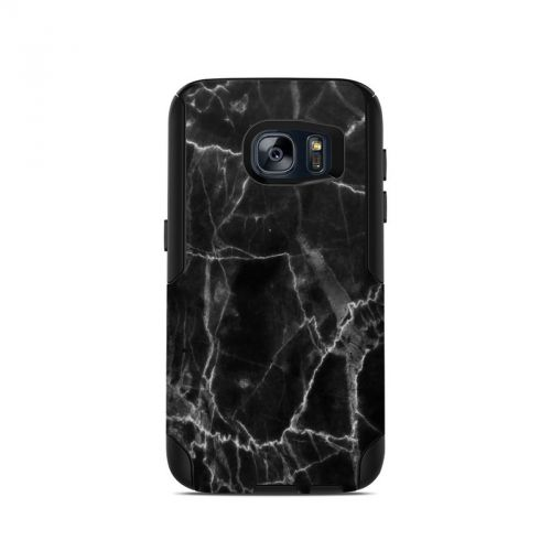 Black Marble OtterBox Commuter Galaxy S7 Case Skin
