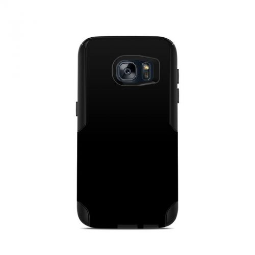 Solid State Black OtterBox Commuter Galaxy S7 Case Skin