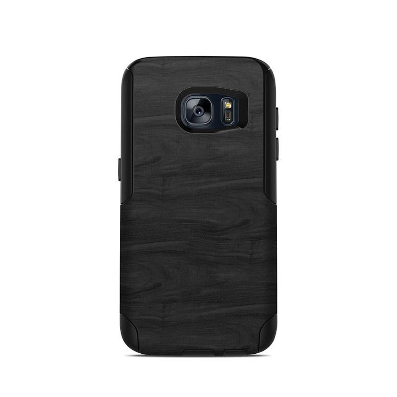 OtterBox Commuter Galaxy S7 Case Skin design of Black, Brown, Wood, Grey, Flooring, Floor, Laminate flooring, Wood flooring with black colors