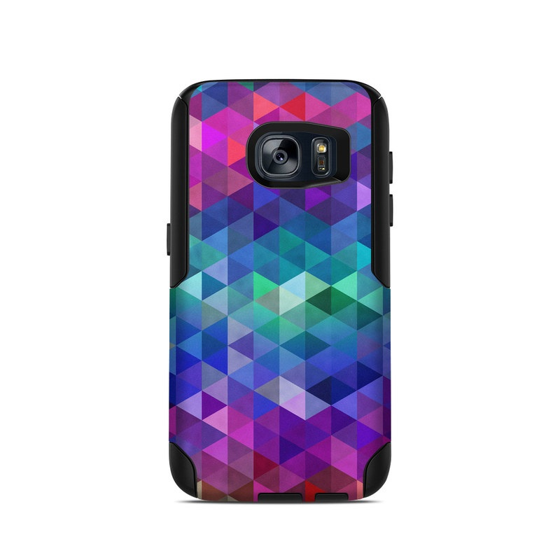 OtterBox Commuter Galaxy S7 Case Skin design of Purple, Violet, Pattern, Blue, Magenta, Triangle, Line, Design, Graphic design, Symmetry with blue, purple, green, red, pink colors