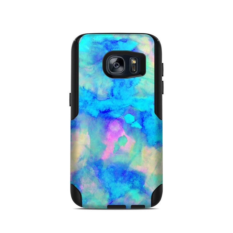 info for 75028 b329a Electrify Ice Blue OtterBox Commuter Galaxy S7 Case Skin