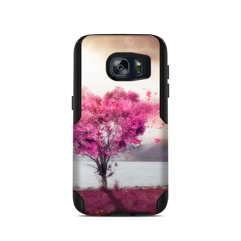 OtterBox Commuter Galaxy S7 Case Skin design of Sky, Nature, Natural landscape, Pink, Tree, Spring, Purple, Landscape, Cloud, Magenta with pink, yellow, blue, black, gray colors