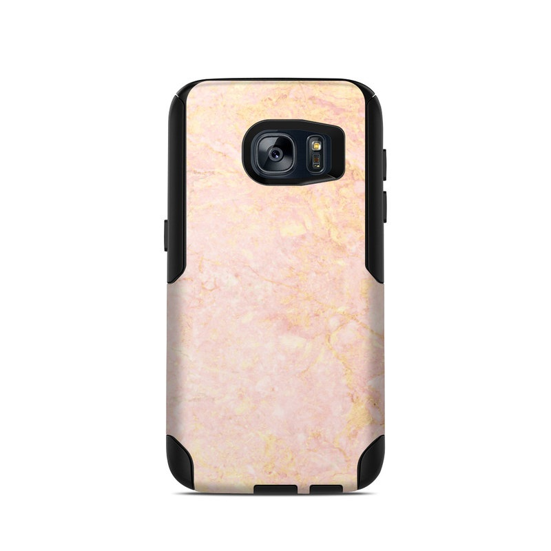 OtterBox Commuter Galaxy S7 Case Skin design of Pink, Peach, Wallpaper, Pattern with pink, yellow, orange colors