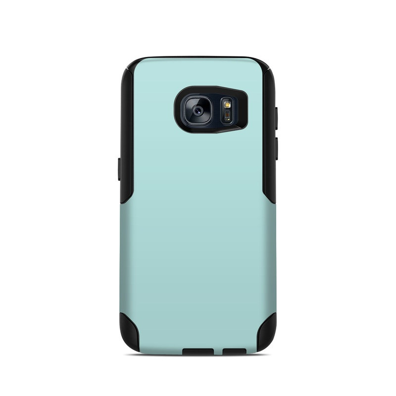 OtterBox Commuter Galaxy S7 Case Skin design of Green, Blue, Aqua, Turquoise, Teal, Azure, Text, Daytime, Yellow, Sky with blue colors