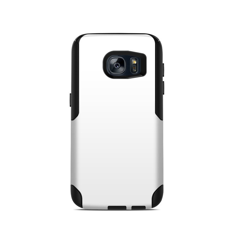 OtterBox Commuter Galaxy S7 Case Skin design of White, Black, Line with white colors