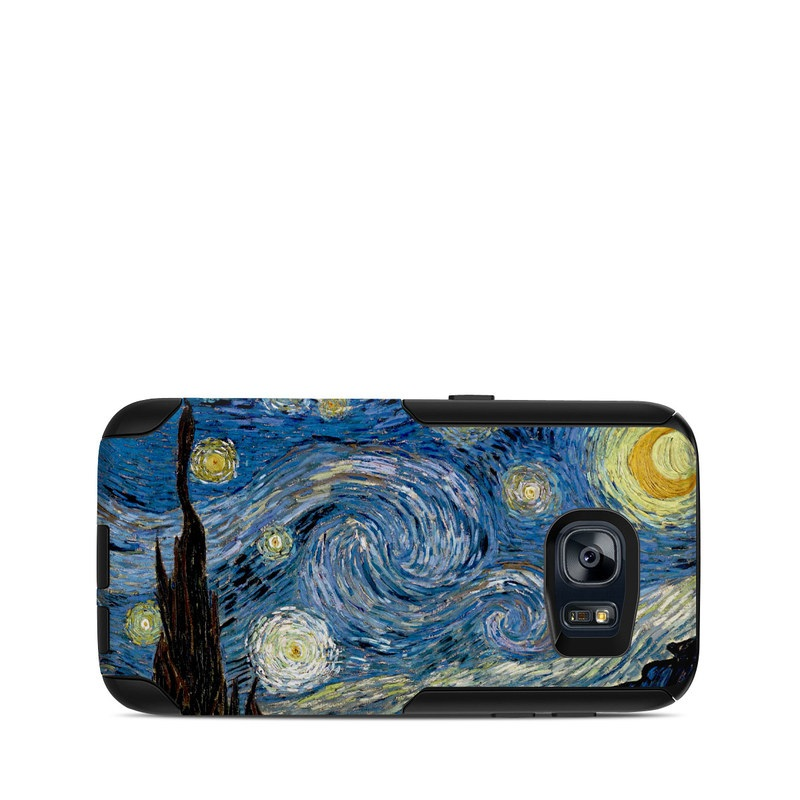 OtterBox Commuter Galaxy S7 Case Skin design of Painting, Purple, Art, Tree, Illustration, Organism, Watercolor paint, Space, Modern art, Plant with gray, black, blue, green colors