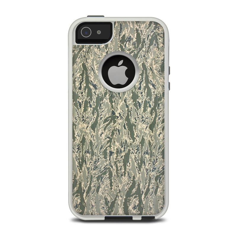 OtterBox Commuter iPhone 5 Case Skin design of Pattern, Grass, Plant with gray, green colors