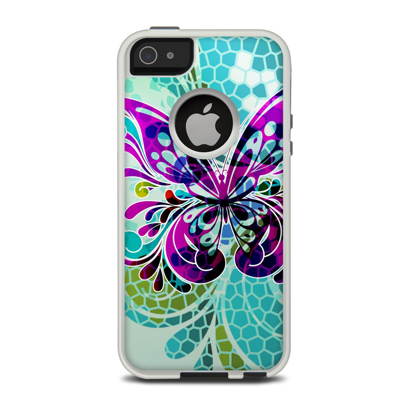 Butterfly Glass OtterBox Commuter iPhone 5 Skin
