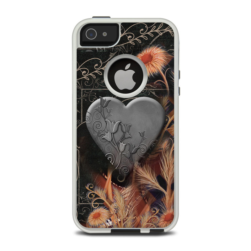 Black Lace Flower OtterBox Commuter iPhone 5 Skin