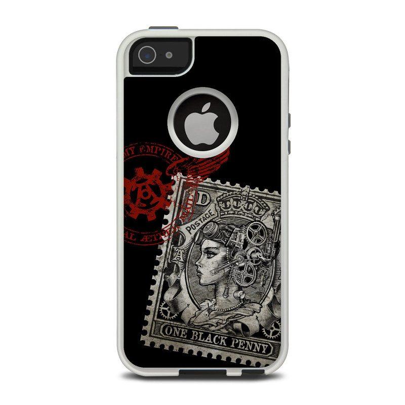 Black Penny OtterBox Commuter iPhone 5 Skin