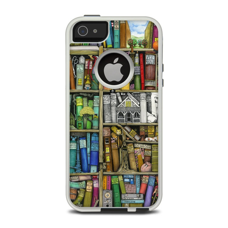 Bookshelf OtterBox Commuter iPhone 5 Skin