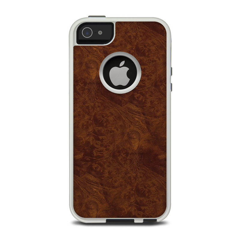 Dark Burlwood OtterBox Commuter iPhone 5 Skin