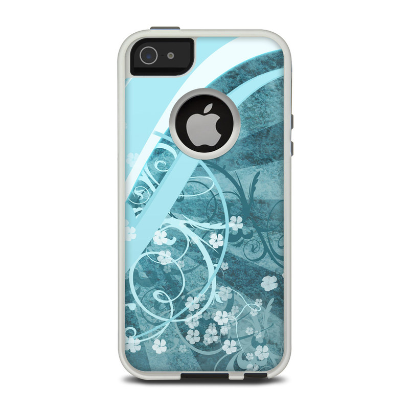 OtterBox Commuter iPhone 5 Case Skin design of Aqua, Blue, Turquoise, Pattern, Teal, Text, Circle, Design, Graphic design, Wallpaper with gray, blue, purple colors