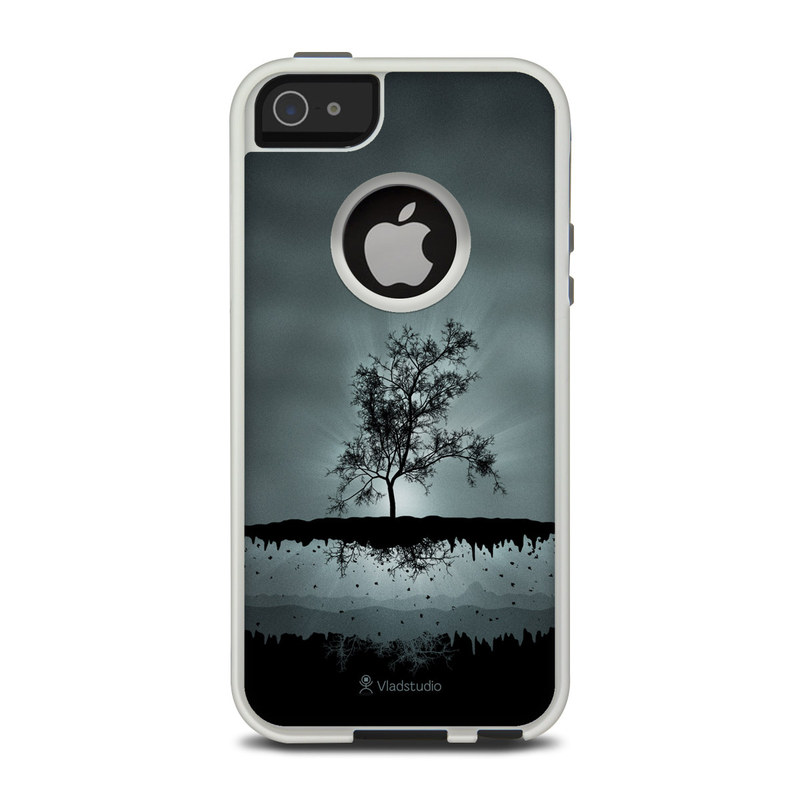 OtterBox Commuter iPhone 5 Case Skin design of Reflection, Sky, Nature, Water, Black, Tree, Black-and-white, Monochrome photography, Natural landscape, Atmospheric phenomenon with black, gray, blue colors