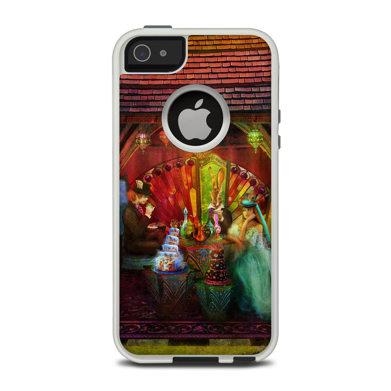 OtterBox Commuter iPhone 5 Case Skin design of Hindu temple, Temple, Art, Painting, Place of worship, Stage, Fictional character with black, red, green, blue, gray colors