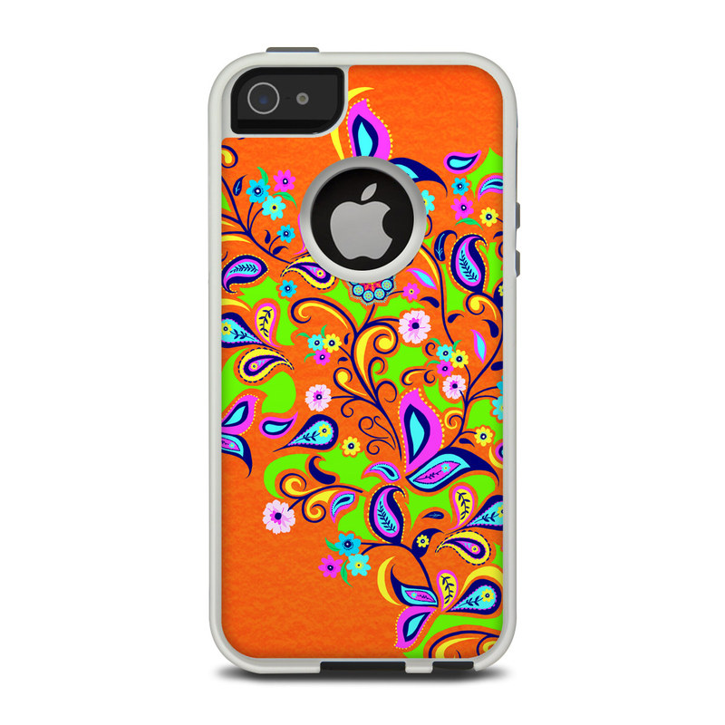 Orange Squirt OtterBox Commuter iPhone 5 Skin