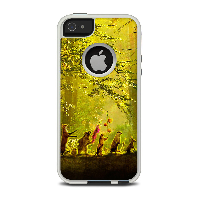 OtterBox Commuter iPhone 5 Case Skin design of Nature, Natural environment, Light, Forest, Natural landscape, Yellow, Biome, Sunlight, Woodland, Tree with black, green, red colors