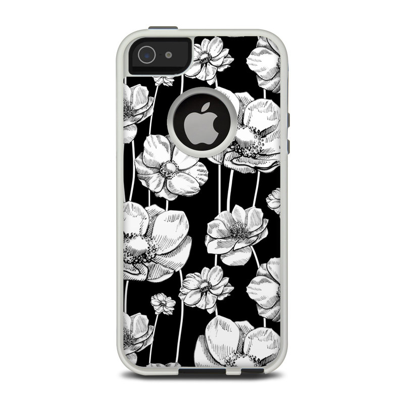 OtterBox Commuter iPhone 5 Case Skin design of Flower, Black-and-white, Plant, Botany, Petal, Design, Wildflower, Monochrome photography, Pattern, Monochrome with black, gray, white colors